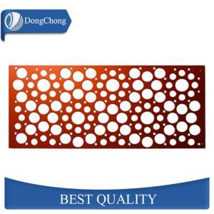 China Flat Custom Aluminum Panels Round Hole Wall Cladding High Plasticity on sale