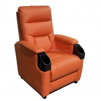 Buy cheap Leatehr Recliner Orange Movie Theater Seats With Cup Sacuer For Cinema, Home, from wholesalers