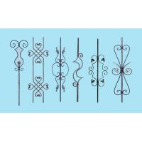 China Wrought Iron Elements/ Ornaments for balusters and gates--Forged balusters and newel post wholesale
