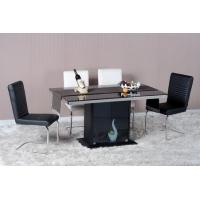 China Modern Dining Room Furniture,Stainless Steel/Glass Storage Dining Table on sale