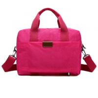 China Simple Girl Canvas Red Office Laptop Bags Scratch - Proof And Durable on sale