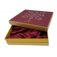China Gold Color Box Die Cut Attractive Flower Shape Customized Gift Box Packaging with Silk Material Tray wholesale