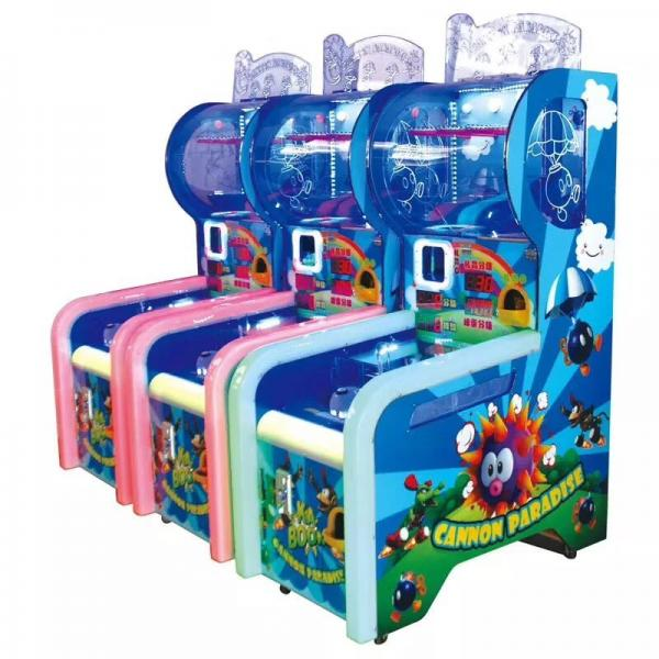 Quality Kids Cannon Paradise Ball Shooting Arcade Machine , Coin Operated Arcade Machine for sale