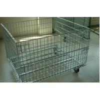 Wire Mesh Container with Removable Wheel