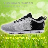 China high quality men sport running shoes sneakers brand, male fly fabric sport shoe running made in jinjiang on sale