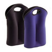 China Hot-selling High quality Neoprene Wine holder Water bottle bag two-Bottle holder in different colors wholesale