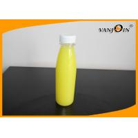 China Boston Round Plastic Beverage Bottles 400ml , Clear Plastic Bottles For Juicing wholesale