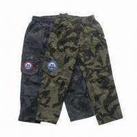 China Camo Pants for Boy, Original Casual Design, Two Colors Available for 4 to 16-year Old on sale
