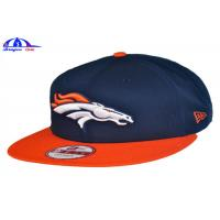 China 100% Cotton Custom Embroidered Baseball Caps / Baseball Fitted Hats 56 - 60 cm Size wholesale