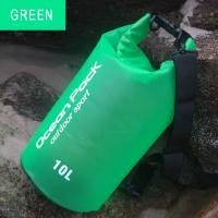 China Transparent Matte PVC Water Resistant Bag , Green Dry Bag For Outdoor Activities on sale