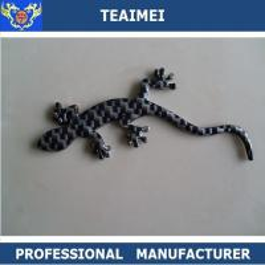 China Wall Lizard Custom Car Emblems Badges Carbon Fiber / Chrome Plastic wholesale