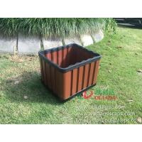 China WPC outdoor flowerpot OLDA-7013 rectangle planter 415x365x340mm wholesale