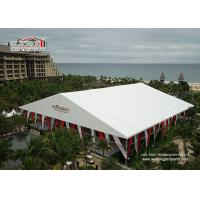 China Luxury Design White Color Outdoor Party Tents ,  A - Shape Aluminum Structure Wedding Tent on sale