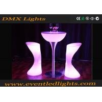 China PE Plastic hire Led Cocktail Table / high bar lighted cocktail tables Modern wholesale
