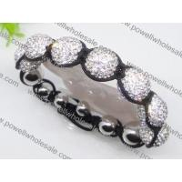 China Adjustable size & newest style DIY Shamballa beaded bracelets in white stone 1760015 on sale