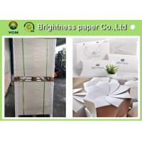 China Glossy Coated Solid White Board , Carton Board Sheets For Making Postcard wholesale