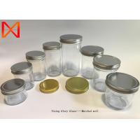 China Strawberry Orange Sauce Recycled Glass Jars , Bulk Glass Containers Slip Resistant on sale