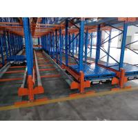 China Powder Coating Surface Radio Shuttle Racking System Semi Automatic Storage on sale