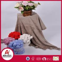 China Hot Sales Cheap and Fine Blanket With Ball,Ball Edge Coral Fleece Blanket wholesale
