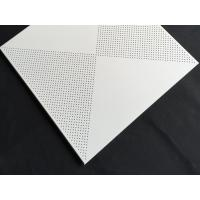 China Aluminum / Galvanized Steel 3.0mm Perforated Metal Ceiling With Beveled Edge wholesale