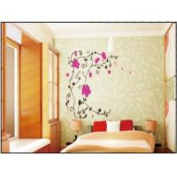 China Red Flower Vine Interior Nature Wall Decals For Sitting Room , 1.5 x 1.2M wholesale