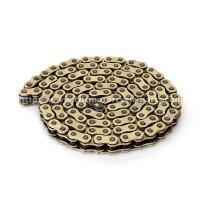 China Copper Plated Motorcycle Drive Chain Yamaha Gold Rear Dirt Bike Chain wholesale