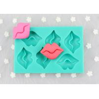 Sexy Lip Rectangle Cake Silicone Molds , 6 Holes Silicone Chocolate Bar Molds