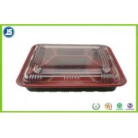 China Customized Take Away Plastic Food Packaging Trays With Transparent Lid wholesale