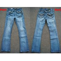 China wholesale 6027 pieces American youth Old & Frazzle Style Denim Jeans in cheap price wholesale