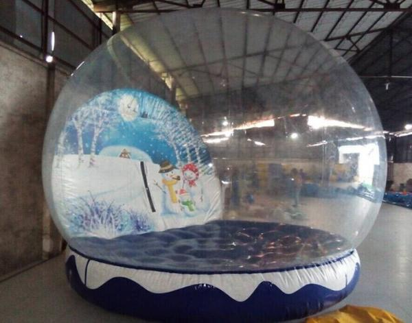 Inflatable christmas snow globe pvc tarpaulin inflatable christmas