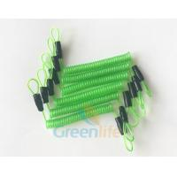 China 70CM Long Steel Wire Spring Spiral Coil Cable Transparent Green With Double Cord Loops on sale