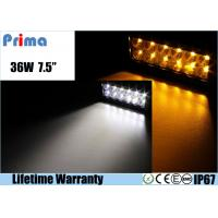 China 36W Remote Control LED Light Bar , Double Row Amber White Led Offroad Light Bar wholesale
