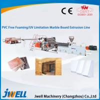 China Jwell PVC Free Foaming/UV Lmitation Marble Board Extrusion Line wholesale