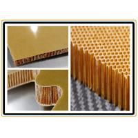 Buy cheap High Temperature Resistance Moisture Proof Aramid Honeycomb Core Sheet For Further Carving from wholesalers