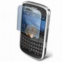 China Cut-out Clear Screen Protector for RIM's BlackBerry 9000, PET Material, Scratch Screen Protective wholesale