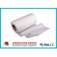 Plain Spunlace biodegradable non woven fabric , 50Gsm non woven material User Friendly