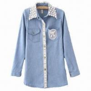 China 100% cotton denim shirt, comfortable handfeel on sale