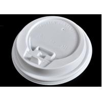 China Ice Cream Paper Cups Lids , White Coffee Mug Lid Cover Lightweight on sale