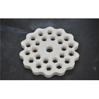 China Refractory Porous Aluminum Oxide Ceramic Disc High Hardness White Color on sale