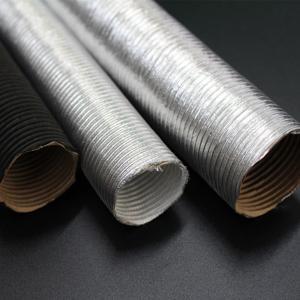 China Aluminium Hot Air Ducting Flexible Heat Resistant Car Engine Pipe for heatshield wholesale