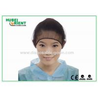 China Black Nylon Hairnet Disposable Head Cap Comfortable Breathable Snood wholesale