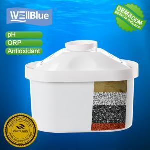 China Wellblue Food Grade Plastic Materials, BPA free Negative Ion Ceramic Balls Alkaline Water Filter Pitcher Cartridge on sale