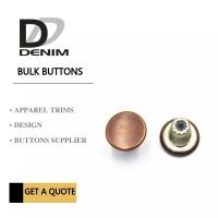 China Customize Decorative Brass Jeans Fasteners Metal Clothing Buttons Brand Style Design wholesale