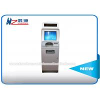 China IR Touch Screen Self Service Coin Counting Kiosk System With Card Dispenser on sale