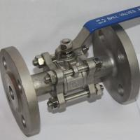 China 3PC SS304/CF8M  Stainless Steel Ball Valve Industrial Flange End AMSE 300LB/flanged RF Floating ball type PN16 PN40 wholesale