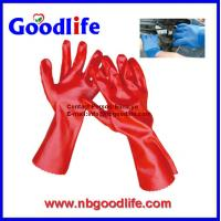 pvc coated gloves, pvc dotted gloves, durable pvc glove