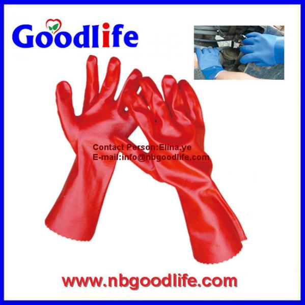 Quality pvc coated gloves, pvc dotted gloves, durable pvc glove for sale