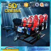 China 6 DOF Snow Virtual Reality 5D Cinema Equipment  With Hydraulic / Electric Platform wholesale