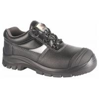 China Black Anti Slip PPE Safety Shoes Water Proof Oil Proof With Steel Toe Cap wholesale