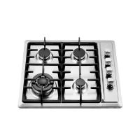4 Burner Gas Hob Stainless Steel , Auto Ignition Gas Hob 580 X 500 Mm